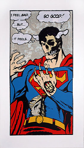 Superman the zombie.