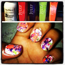 Paint splatter nails.  Julep inspired.