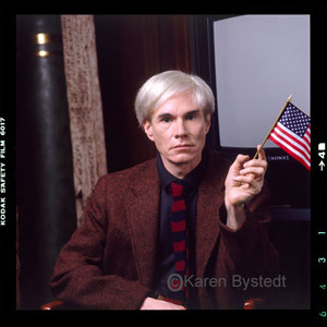 Andy Warhol's enthusiasm is astounding. Happy 4th of July! via PublicArtFund
