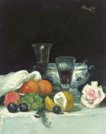 George Leslie Hunter Still Life of Fruit and a Rose 1918