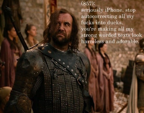 westeros-rose:  Sandor does not approve of looking harmless and adorable.  *scowls*
