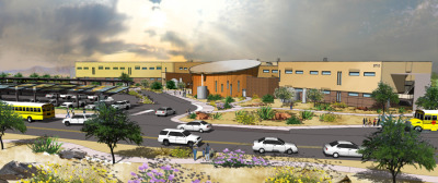 DLR Group Designs Near Net-Zero School for Paradise Valley Unified School District Construction of Fireside Elementary, the Paradise Valley (Ariz.) Unified School District's newest school, is almost complete. The school incorporates energy saving and environmentally sensitive design elements to make it the most efficient facility in the District to date.  This two-story, 88,660 SF new elementary school campus is designed to be a near net-zero energy building. DLR Group's approach to high performance design includes both energy reduction and energy production strategies. At Fireside, energy reduction includes a high performance envelope, efficient interior and exterior lighting design, highly efficient chillers, and extensive control systems. Production strategies include solar collection panels to produce power, daylighting and solatubes in educational spaces, and a solar hot water system. The $13.5 million Paradise Valley School will be presented to the district at the end of July.