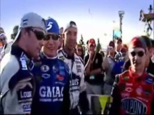 1st win for Hendrick Motorsports after the tragic plane crash in 2004