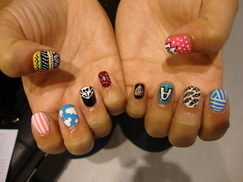 SIRI'S BEAUTIFUL WAH MIXED #NAILART BY JV. BON VOYAGE GIRL.. LONDON WILL MISS YOU!!x