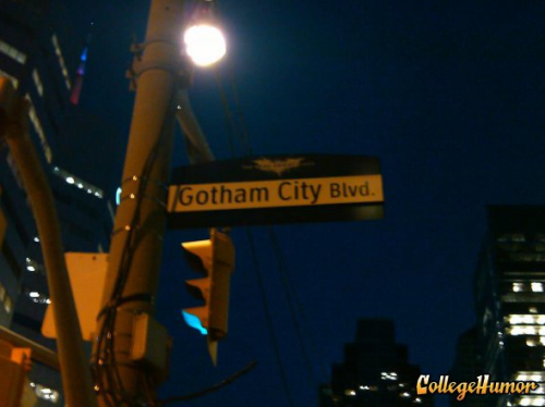 Gotham City Blvd The neighborhood watch on this street is a little batty.