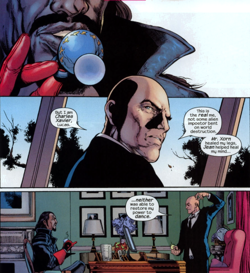 readingthexmen:  New X-Men #140  Having established that Magneto can tango, Charles acknowledges his own lost dancing ability. Coincidence? I think not.