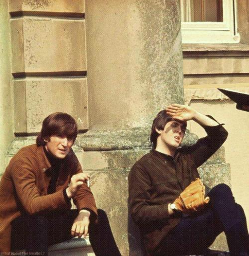 lennonlover66:  Check out what John is holding there….