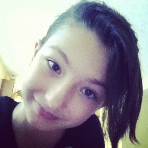 Bored… Did me hair wat do ya think  (Taken with Instagram)