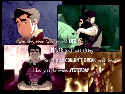 midoriakiko:  Maroon 5 - The Man Who Never Lied Oh Bolin, I just wish you got your due. He's such a great guy, and I think he still had feelings for Korra, but he hid it because he saw what was happening.