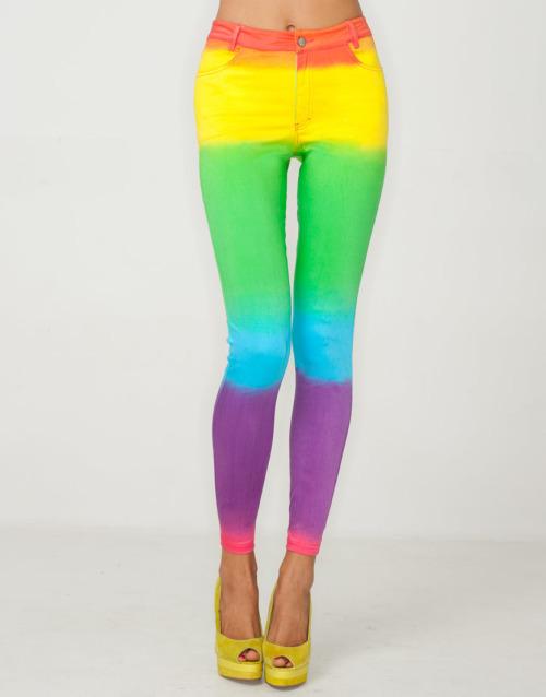 jeans denims skinny jeans rainbow jeans dip sye swag