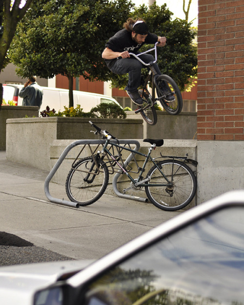 Blair - Ledge ride hop over bike rack