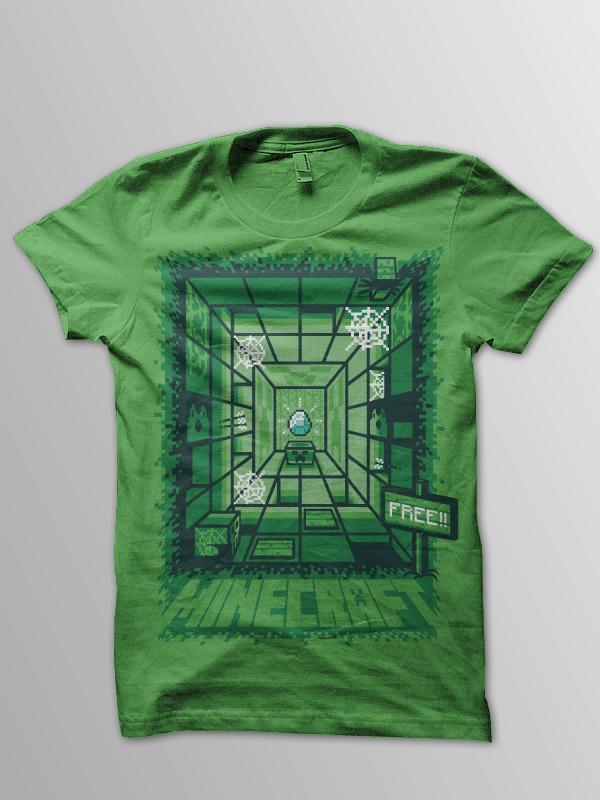 Minecraft T Shirt Design
