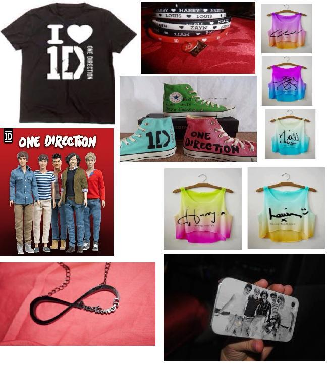 owning any peice of 1D merchandise you can get your hands on ~V