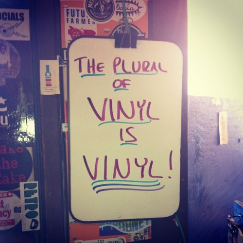 topshelfrecords:  icatchfoxes:  #realtalk #cincinnati #spreadTheWord (Taken with Instagram at Shake It Records)  Ya know, FYI.