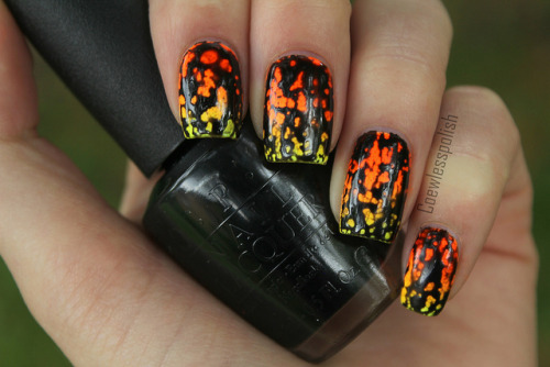 Black Spotted (over neon gradient) on Flickr. I got my OPI Black Spotted! I really like it. I still have to play around with it though. www.coewlesspolish.wordpress.com