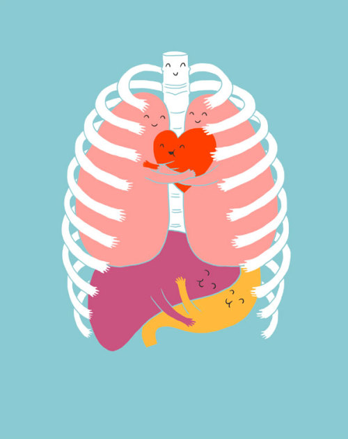 thefrogman:  Hugs Keep Us Alive by Lim Heng Swee [website | tumblr | twitter]