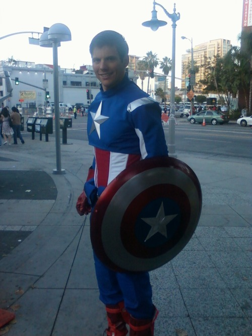 Captain America at Anime Expo