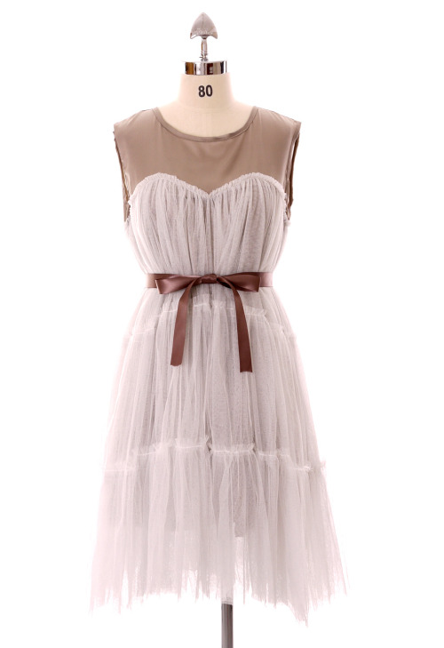 cutesyclothesy:  Dreamy Tulle Flippy Dress ChicWish.com - 49.90