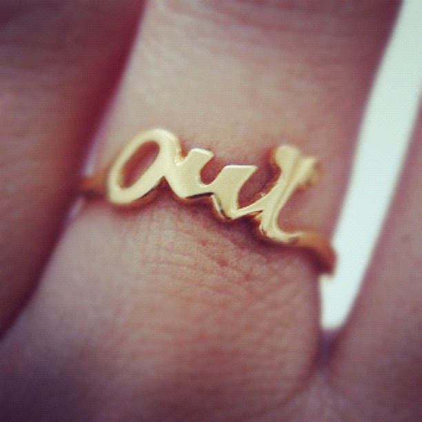 Oui Ring #recycled #silver #goldhttp://instagr.am/p/Ml_ePENd5E/