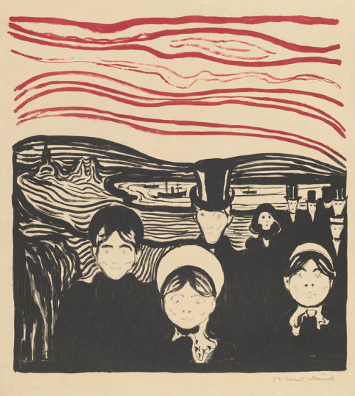 snowce:  Edvard Munch, Anxiety, 1896