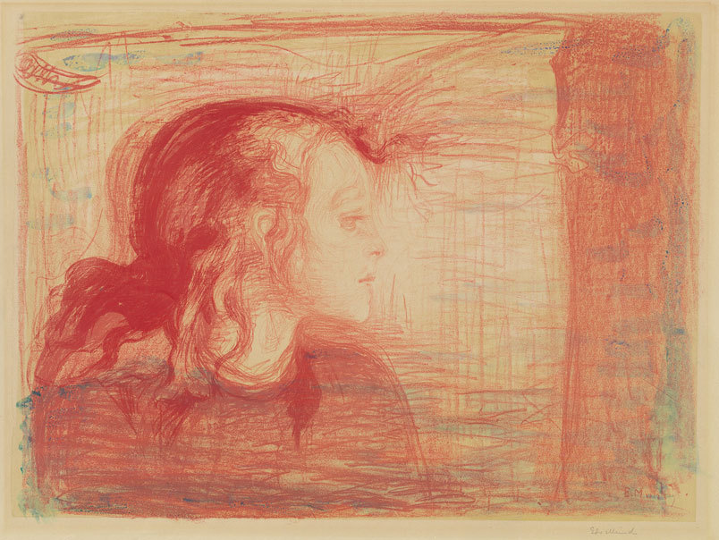snowce:  Edvard Munch, The Sick Child I, 1896/1896-1897