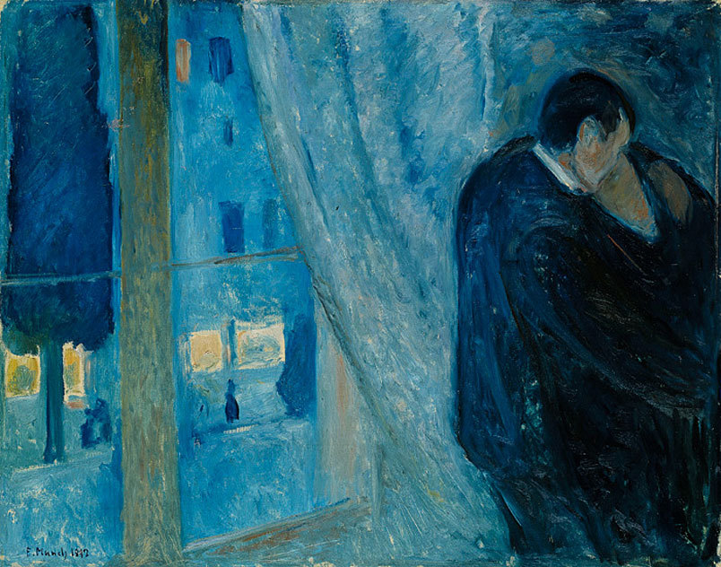 Edvard Munch (Norwegian, 1863-1944), Kiss by the Window, 1892