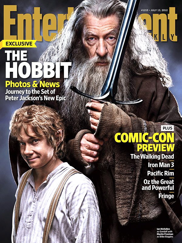 fuckyeahmartinfreeman:  Martin Freeman and Sir Ian McKellen cover Entertainment Weekly for The Hobbit (week of July 13th)