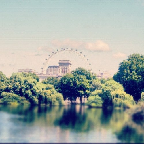 St. James Park and the London Eye, July 2007 (Taken with Instagram)