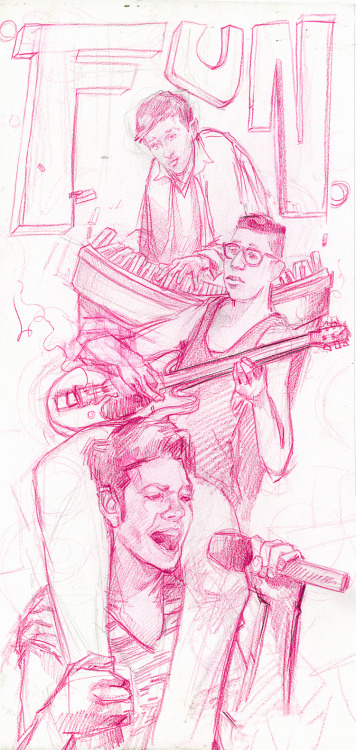 tdylanart:  The under drawing for a painting of fun.