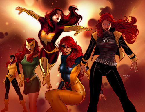 Evolution of Jean Grey by PaulRenaud