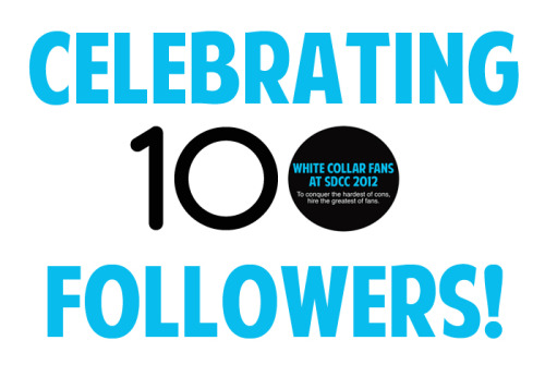 We've reached 100 Tumblr followers! Thank you to everyone who has followed us on this journey! Comic Con is less than 2 weeks away, and the fun is just beginning!
