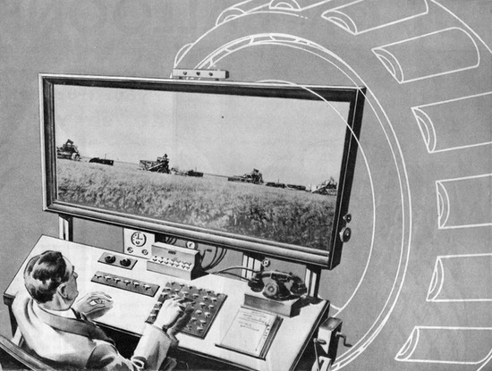 paleofuture:  1931's Remote-Controlled Farm of the Future
