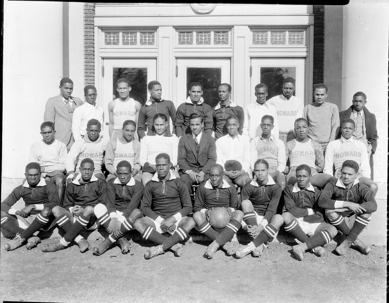 Howard University soccer team pictured in 1930, the first year of varsity competition in the sport at the historically black college in Washington D.C. In issue one of XI, Tom Dunmore tells the groundbreaking and remarkable story of Howard's soccer team, who in the 1970s became the first NCAA champions from a predominantly black college.Photo courtesy of the National Museum of American History's Addison N. Scurlock collection.