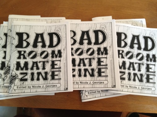 portlandbuttonworks:  Nicole Georges just dropped off more copies of Bad Roommate Zine! http://www.portlandbuttonworks.com/store/bad-roommate-zine  I got this zine at the Chicago Zine Fest and it was the first one I read on the plane home! Absolutely hilarious, I really recommend it!
