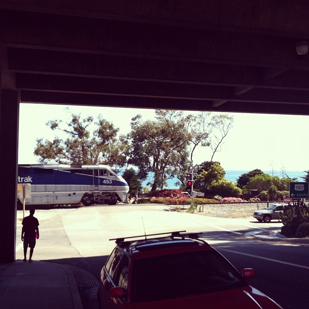 Walking back to my car in #summerland #california. #amtrak #train #ocean (Taken with Instagram)