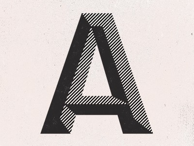 Typography / A by Paul Price allanpeters, ffffound.com via http://pinterest.com/pin/2181499789173964/  http://flpbd.it/Q6Ev3