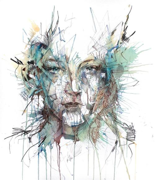 carnegriffiths:  Order - Ink, Tea, Brandy and graphite on 540gsm Bockingford Watercolour Paperby Carne Griffiths