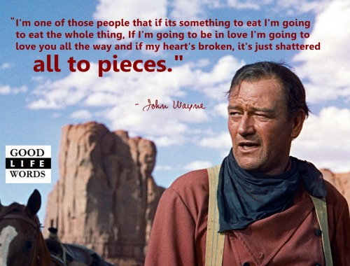 John Wayne. On extremes.
