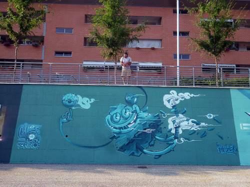 ARSEK – NEW MURAL AT PICTURIN MURAL ART FESTIVAL – TORINO,ITALY'2012 by FourPlus Studio on Flickr.