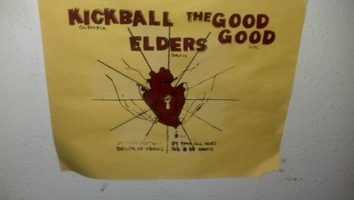Kickball w/ The Good Good (BK) and Elders (Davis). From a little visit to Chez Puget.