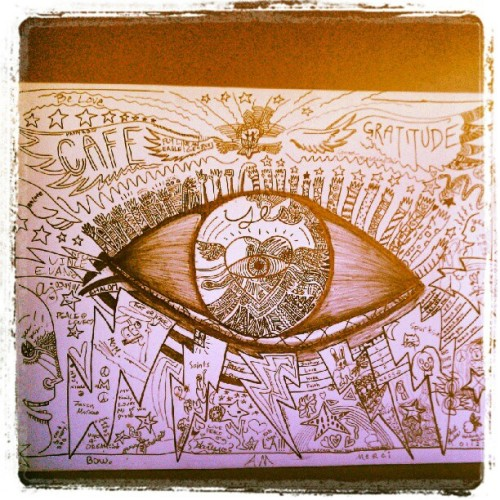 Beautiful artwork in a beautiful place… (Taken with Instagram at Café Gratitude)