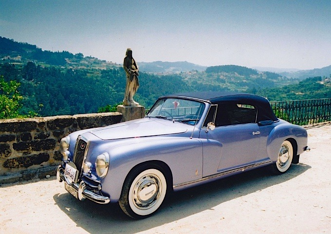 | ♕ |  Lancia Aurelia B50 Cabriolet  | by © aureliab24 at a Portuguese castle overlooking the Douro River