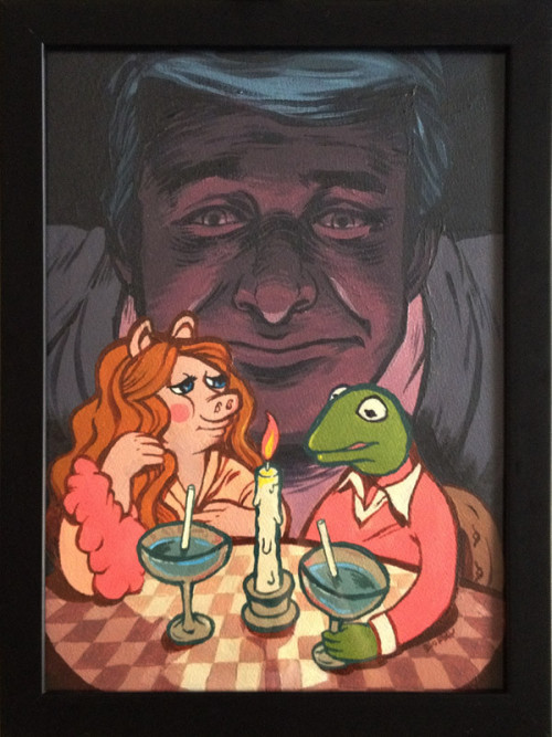 nevertoooldtolovemuppets:  STEVE MARTIN IS WATCHING YOU. CREEP-A-LICIOUS. (Artwork shared on Tough Pigs. No clue who the artist is.)  This is the stuff of nightmares
