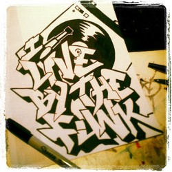 It's that funky funky ishhhh! #Funk #Graff #Record #Sharpie #IliveForTheFunk #GoFunkAndGetCrunk #HipHop (Taken with Instagram)