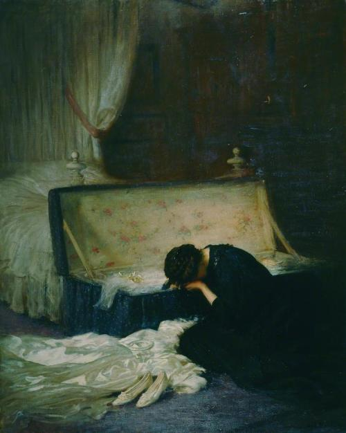 colourthysoul:  Frederick William Elwell - The Wedding Dress