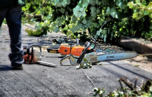 Chainsaw. DC Metro 'Super Derecho' Storm Aftermath. Arlington, Virginia.