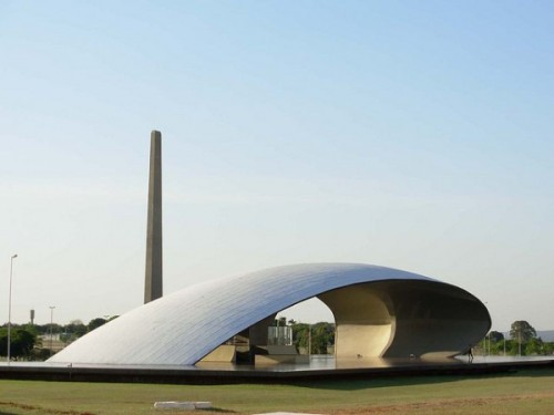 Bandshell made elegant. Concha Acústica, in Brasília, Brazil. Designed by master architect Oscar Niemeyer.