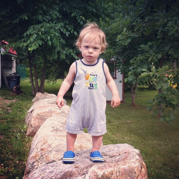 #Edwin, #bouldering. #baby #bigrocks #rocks (Taken with Instagram)