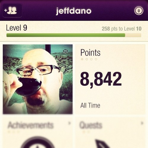So close to level 10… Push hard tonight? You betcha! @fitocracy #fitness #health #workout #fitocracy  (Taken with Instagram)