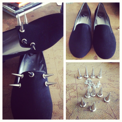 DIY spike loafers! Total cost $17 (including shoes)